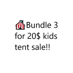 We are having a tent sale for kids clothing!